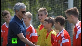 Video 'Have fun... but take it seriously': Mourinho inspires young stars of the future in Moscow MP3, 3GP, MP4, WEBM, AVI, FLV Desember 2018