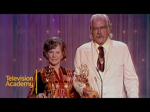 Will Geer and Ellen Corby Win Best Supporting Actor and Actress In A Drama | Emmys Archive (1975)