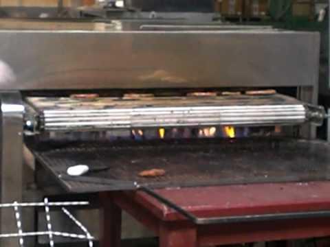 grelhador - Teste de maquina para assar e grelhar hamburguer.