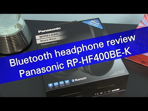 Panasonic RP-HF400BE-K Bluetooth headphones review