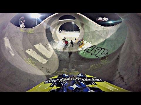 LOUISVILLE SKATEPARK PIT BIKE TAKEOVER - DUDE DATE 2016 NIGHT RIDE GOPRO RAW FOOTAGE