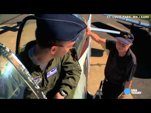 Video Watch new Air Force pilot take his WWII grandpa flying download in MP3, 3GP, MP4, WEBM, AVI, FLV January 2017