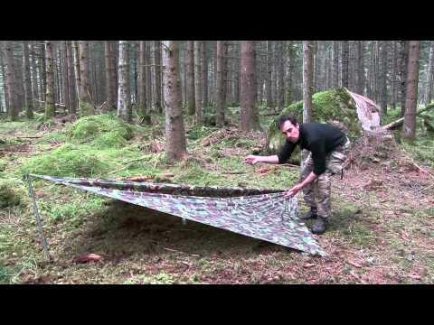 Aufbau I Zeltplane, Tarp, Basha - Biwakieren im Freien. Outdoor Tipps & Tricks | Wanderfalke