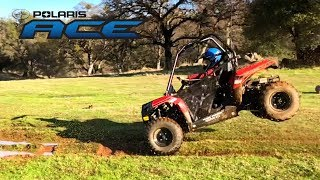 10. New Polaris Ace 150 ATV!  Mud and Jumps!