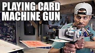 Video PLAYING CARD MACHINE GUN- Card Throwing Trick Shots MP3, 3GP, MP4, WEBM, AVI, FLV Maret 2019