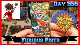 Pokemon Pack Daily Furious Fists Booster Opening Day 555 - Featuring CheriBerryEX by ThePokeCapital