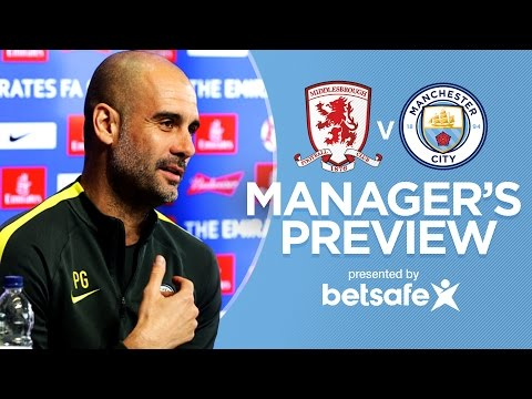 Video: WEMBLEY IS SPECIAL TO ME | Middlesbrough v Man City FA Cup | Guardiola Press Conference