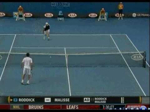 Brillante punto de Xavier Malisse sobre Andy Roddick