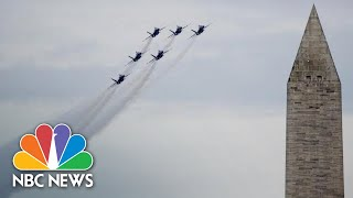 Watch All The Military Flyovers From President Donald Trump's 'Salute To America' | NBC News
