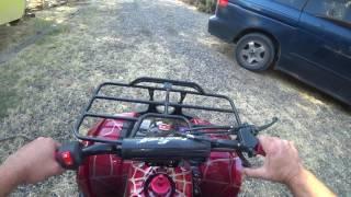10. Coolster ATV-3125XR-8U 125cc ATV - start-up & ride