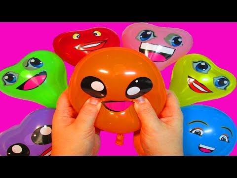 Воздушные шарики Учим цвета с веселой песенкой Песня про шарики Семья пальчики Лопаем шарики с водой (видео)