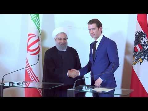 Statements von Bundeskanzler Sebastian Kurz und dem iranischen Präsidenten Hassan Rouhani