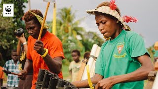 Bamboo Band at Women's Microfinance ceremony, Gizo, Solomon islands