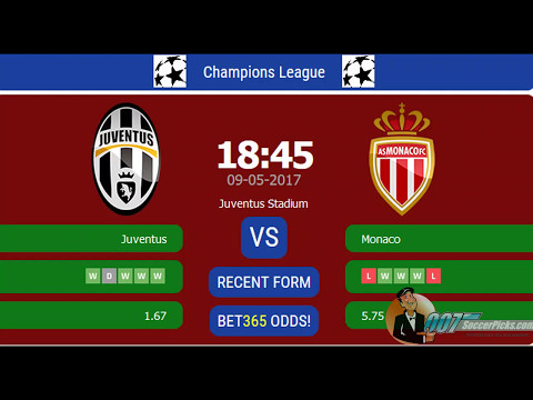 Juventus Vs Monaco PREDICTION (by 007Soccerpicks.com)