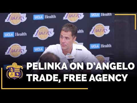 Video: Rob Pelinka On D'Angelo Russell Trade, NBA Free Agency Priorities