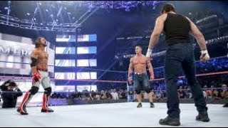 John Cena vs AJ Styles vs Dean Ambrose  Highlights No Mercy 2016