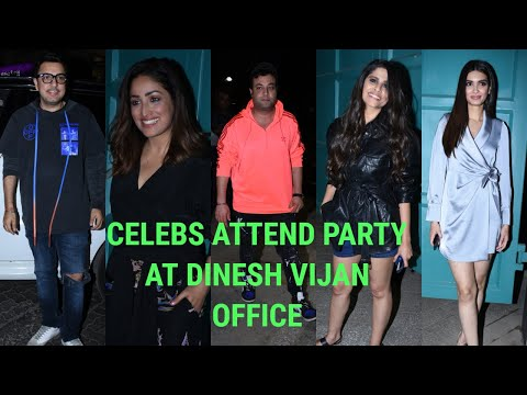 Many Celebs Attend Party At Dinesh Vijan Office At Bandra