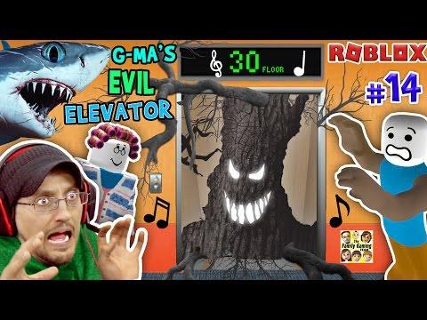 ROBLOX Grandma's EVIL Elevator not NORMAL w/ SHARK TORNADO | FGTEEV Duddy #14 (Gameplay Roleplay) (видео)