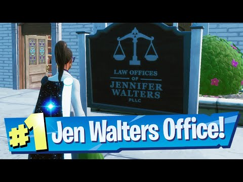 Visit Jennifer Walters office as Jennifer Location - Fortnite (Awakening Challenge)