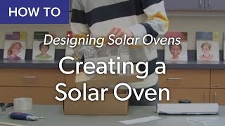 This video shows you how to create a solar oven from a cardboard box with a foil-covered lift flap.