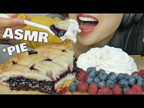 ASMR Blueberry PIE (EATING SOUNDS) NO TALKING | SAS-ASMR