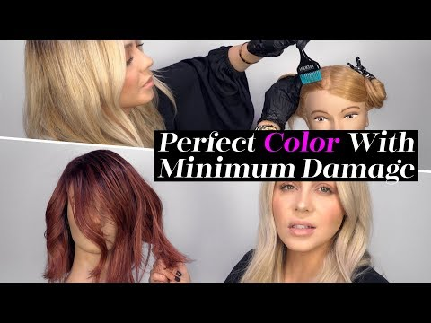 Hair salon - How To: Perfect Hair Color with Minimum Damage