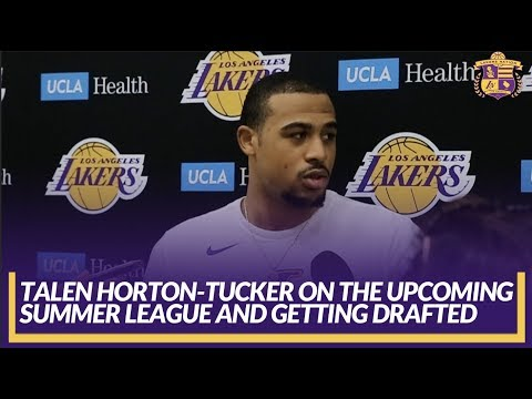 Video: Lakers Interview: Talen Horton-Tucker on Getting Drafted by the Lakers & Upcoming Summer League