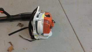 8. Cold Start On BR 200 Backpack Blower