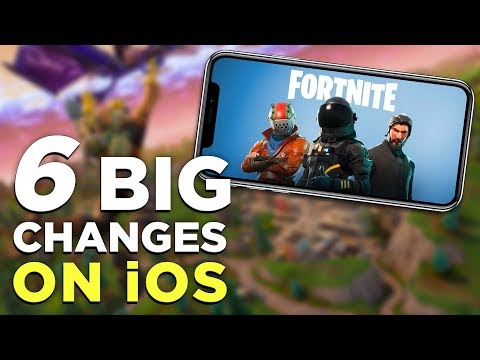 Fortnite Mobile Gameplay! 6 THINGS That Changed on iPhone vs. PC / PS4 / Xbox One (видео)