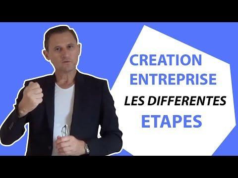 Creation entreprise : Les  étapes de la creation d'entreprise.