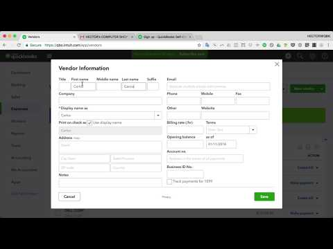 QuickBooks Online 2018 Tutorial: Prepare 1099-Misc Forms (1099 for independent contractor)