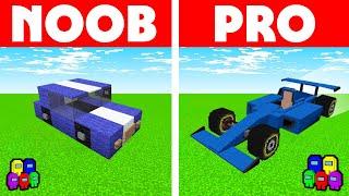 Among Us Vs Minecraft - NOOB VS PRO: SPORTS CARE RACE CHALLENGE! Minecraft Among us Animation