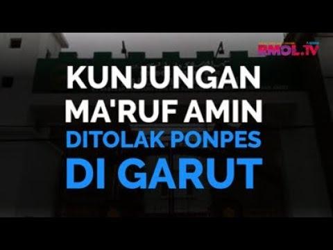 Kunjungan Ma'ruf Amin Ditolak Ponpes Di Garut