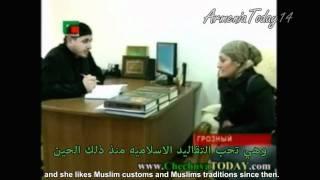 Armenian Girl converted to Islam / فتاة اجنبية تعلن اسلامها في غروزني