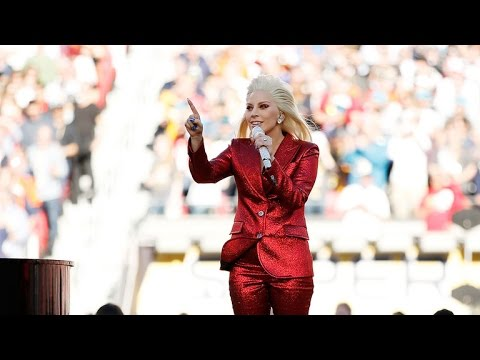Lady Gaga Absolutely Slays the National Anthem