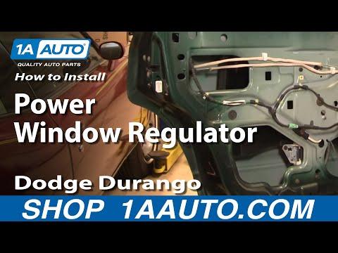 How to install replace broken power window regulator rear dodge durango 98 04 for 2002 dodge durango window regulator replacement