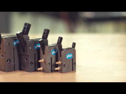 Series GRA Parallel & Series GRV Angular Pneumatic Micro Grippers