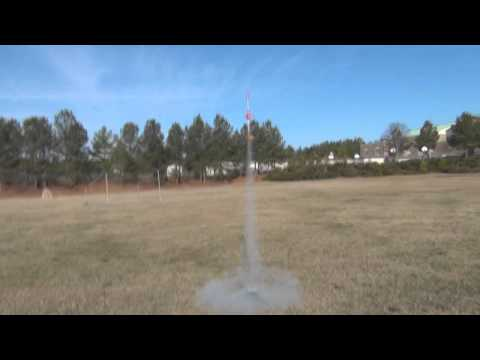 Maddy's Model Rocket 1st flight