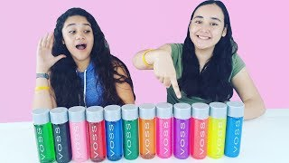 NO Elijas la BOTELLA  INCORRECTA de agua Slime Challenge. Don't choose the wrong water bottle