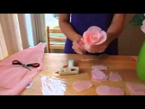 HOW TO MAKE PAPER FLOWERS  FLORES DE PAPEL 2 VERY EASY