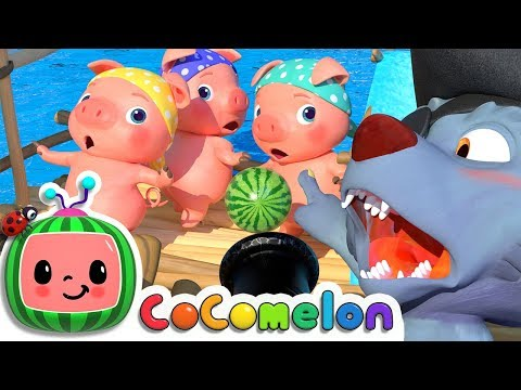 Three Little Pigs (Pirate Version) | CoComelon Nursery Rhymes & Kids Songs