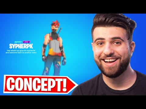 Reacting to my ICON SKIN Concept! (Fan-made)