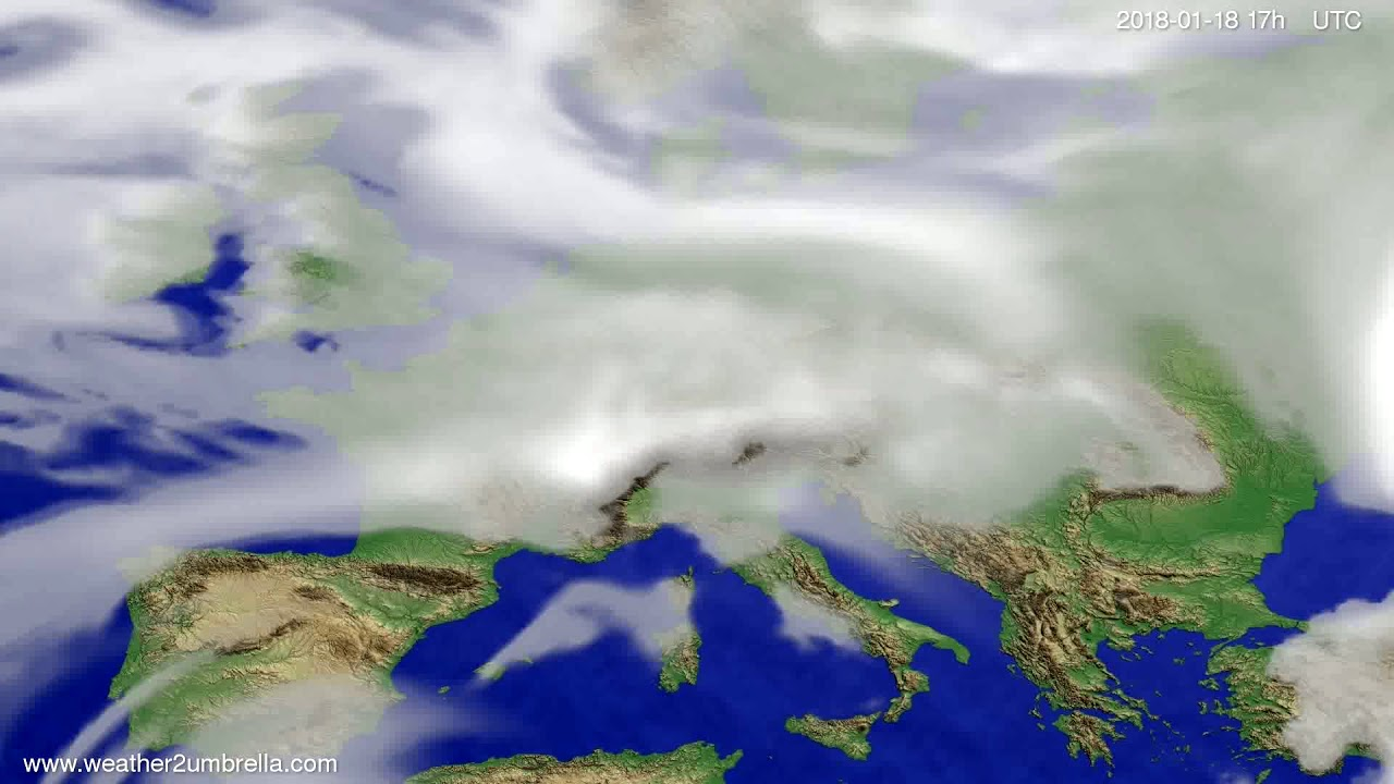 Cloud forecast Europe 2018-01-16