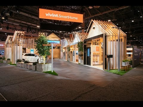 Vivint Smart Home Booth at CES 2018 (видео)