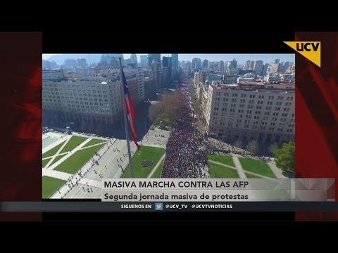 video Segunda jornada masiva de protestas contra las AFP