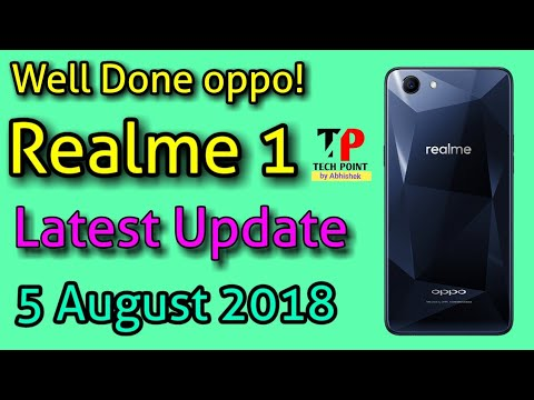 Realme 1 Software Update || 5 August || Camera Depth Effect,  Latest Security Patch🔥🔥🔥