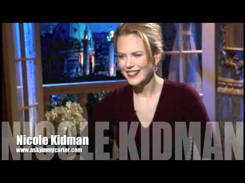 """Nicole Kidman with Jimmy Carter """" The Peacemaker """""""