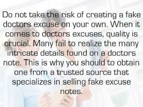 doctors excuse template 5 never heard before tips best fake doctors notes