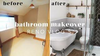 BATHROOM RENOVATION BEFORE & AFTER | RENO VLOG 5