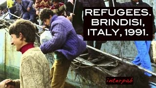 Brindisi Italy  city photos gallery : Refugees. Brindisi, Italy, March 1991